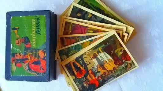 Történelmi fejtörő kártyán Minden Nap Alap